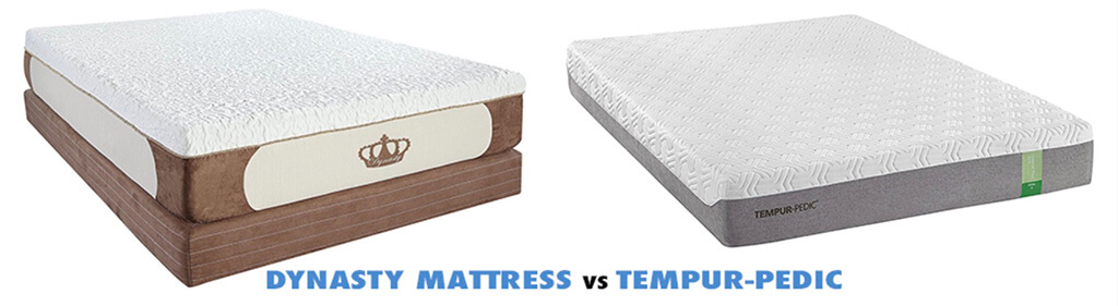 dynasty mattress vs tempurpedic mattress