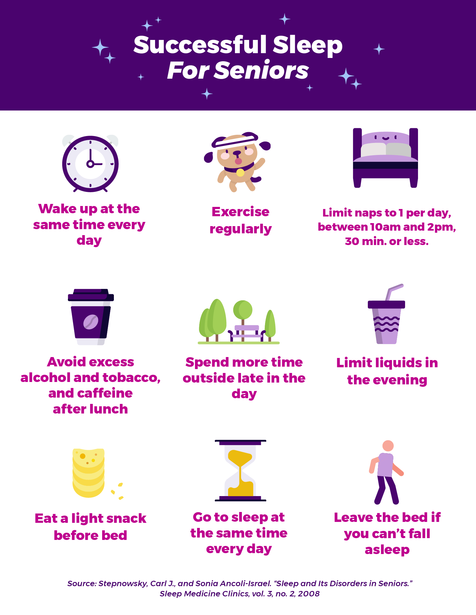 Tips for good sleep for seniors